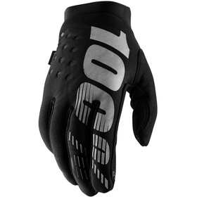 100% Brisker Gloves Cold Weather Youth, black/grey